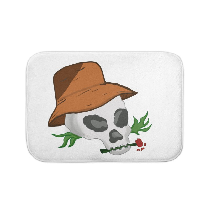 Rose Bone Home Bath Mat by DuMBSTRaCK CLoTH iNK PROJECT