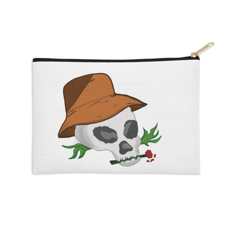 Rose Bone Accessories Zip Pouch by DuMBSTRaCK CLoTH iNK PROJECT