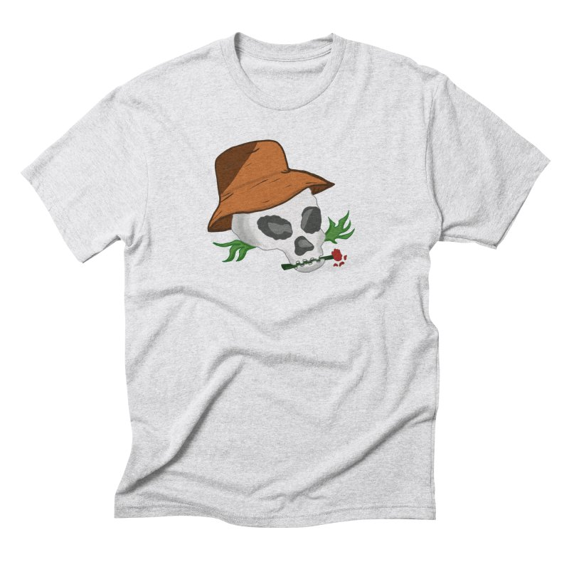 Rose Bone Men's T-Shirt by DuMBSTRaCK CLoTH iNK PROJECT