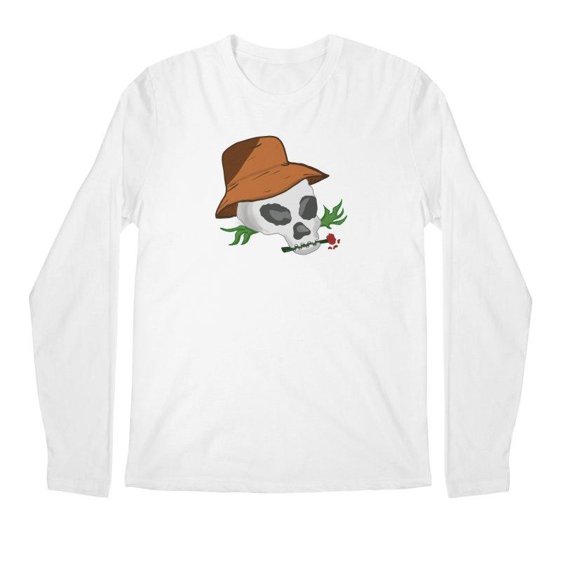 Rose Bone Men's Longsleeve T-Shirt by DuMBSTRaCK CLoTH iNK PROJECT
