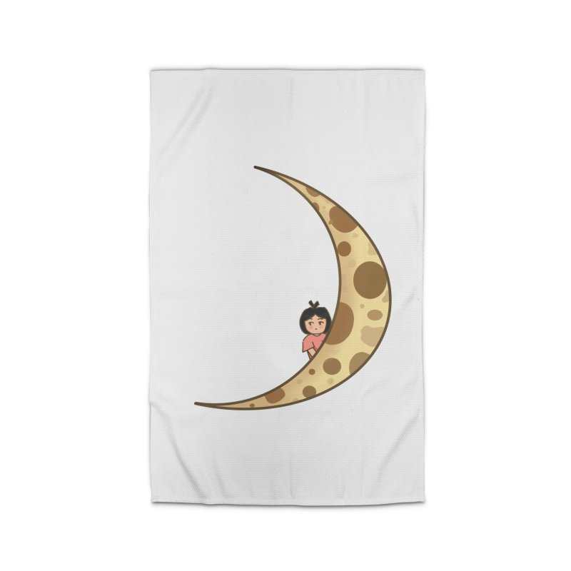 Sweet little girl on the moon Home Rug by DuMBSTRaCK CLoTH iNK PROJECT