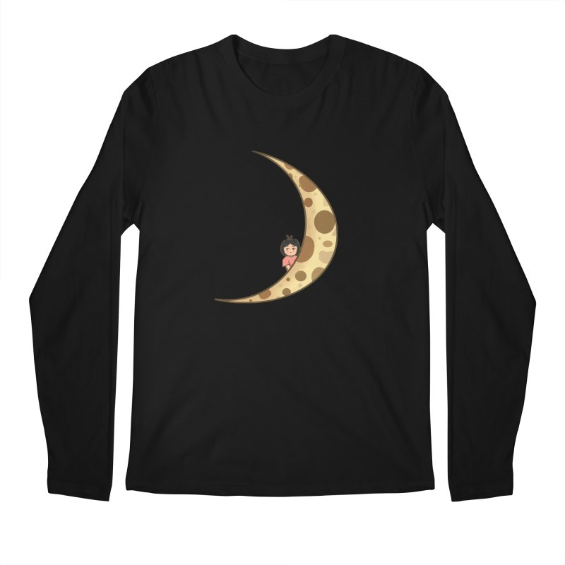 Sweet little girl on the moon Men's Longsleeve T-Shirt by DuMBSTRaCK CLoTH iNK PROJECT
