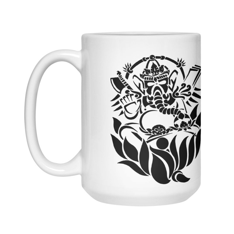 Ganesha One Black Accessories Mug by DuMBSTRaCK CLoTH iNK PROJECT