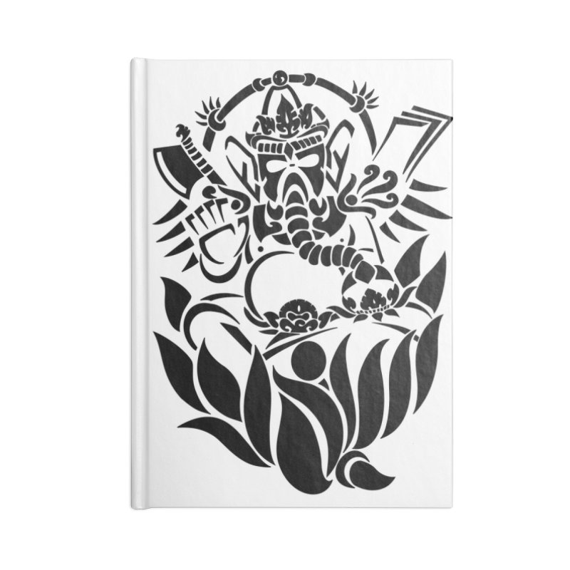 Ganesha One Black Accessories Notebook by DuMBSTRaCK CLoTH iNK PROJECT