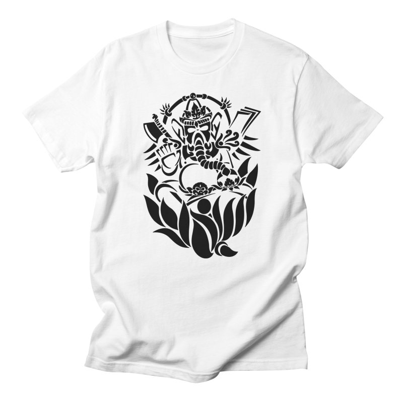 Ganesha One Black in Men's Regular T-Shirt White by DuMBSTRaCK CLoTH iNK PROJECT