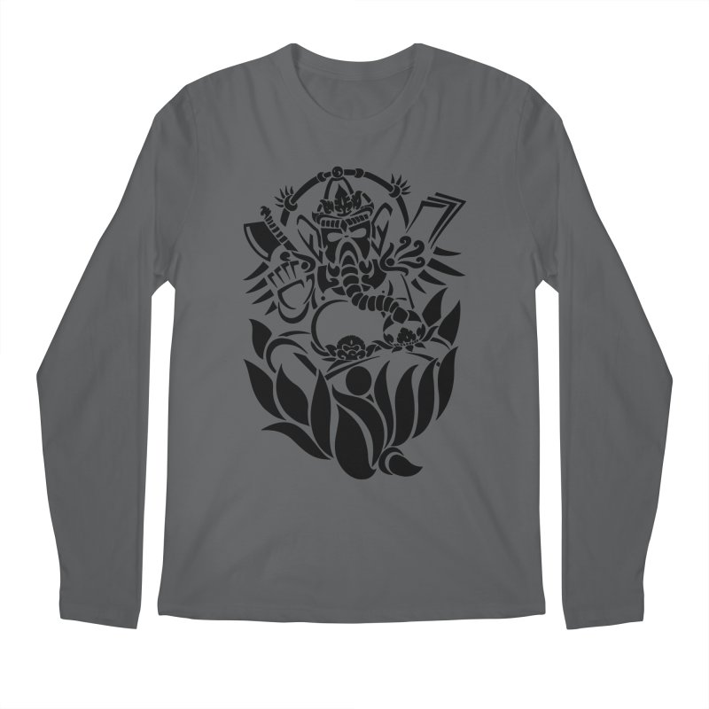 Ganesha One Black Men's Longsleeve T-Shirt by DuMBSTRaCK CLoTH iNK PROJECT