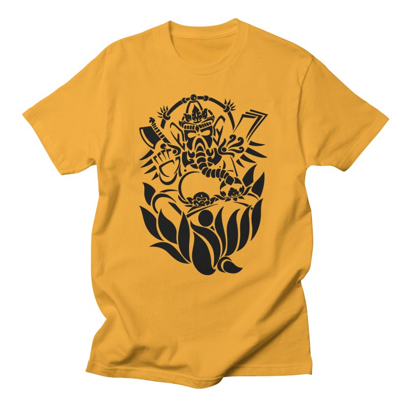 Ganesha One Black Men's T-Shirt by DuMBSTRaCK CLoTH iNK PROJECT