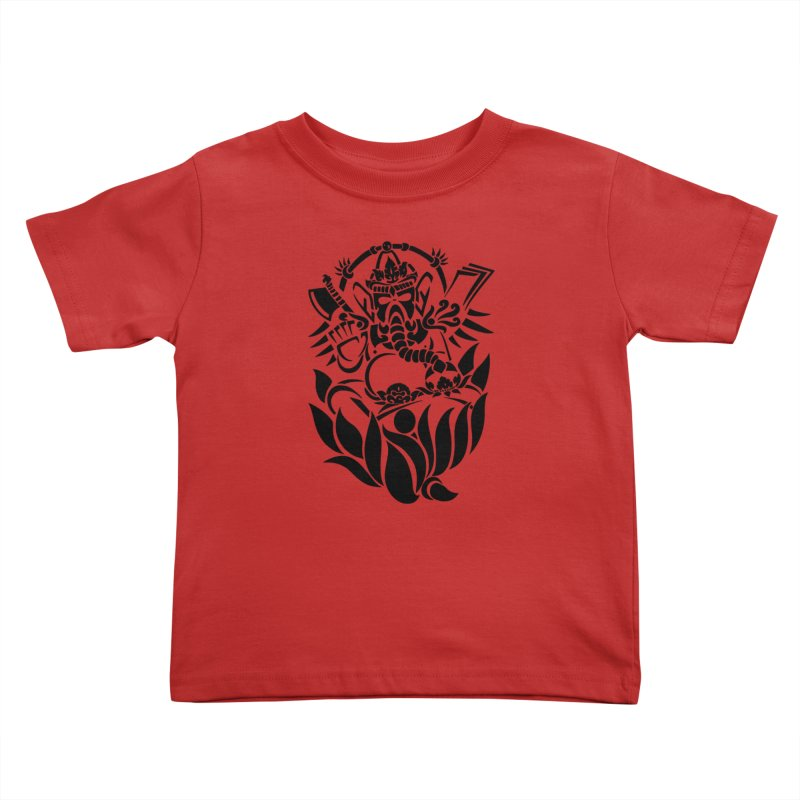 Ganesha One Black Kids Toddler T-Shirt by DuMBSTRaCK CLoTH iNK PROJECT