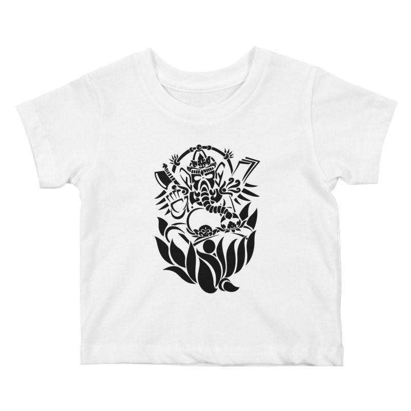 Ganesha One Black Kids Baby T-Shirt by DuMBSTRaCK CLoTH iNK PROJECT
