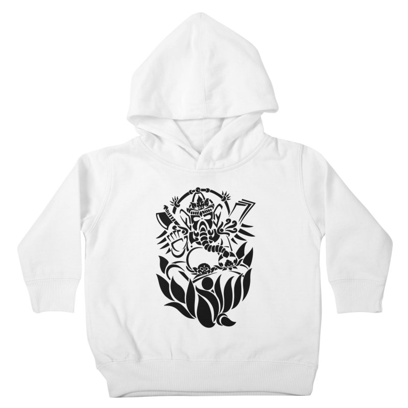 Ganesha One Black Kids Toddler Pullover Hoody by DuMBSTRaCK CLoTH iNK PROJECT