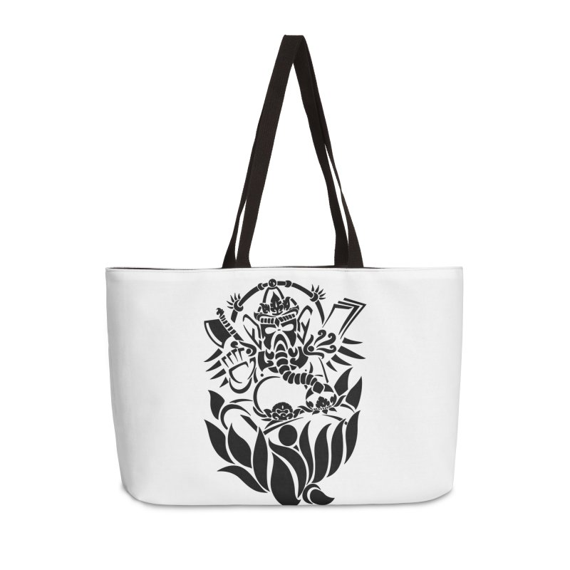 Ganesha One Black Accessories Bag by DuMBSTRaCK CLoTH iNK PROJECT