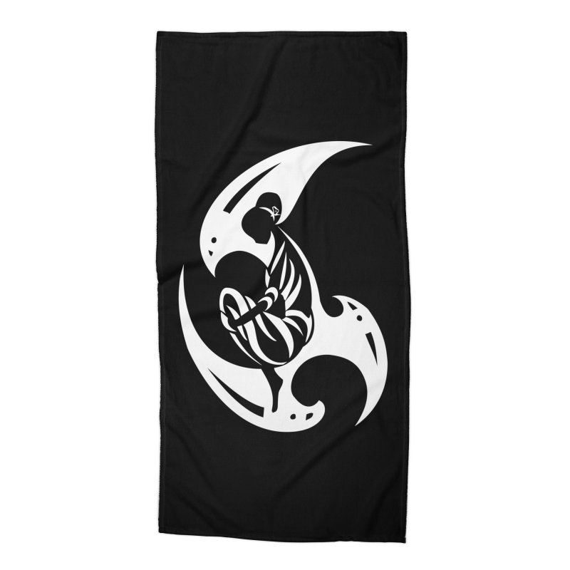 Lost In Thought White Accessories Beach Towel by DuMBSTRaCK CLoTH iNK PROJECT