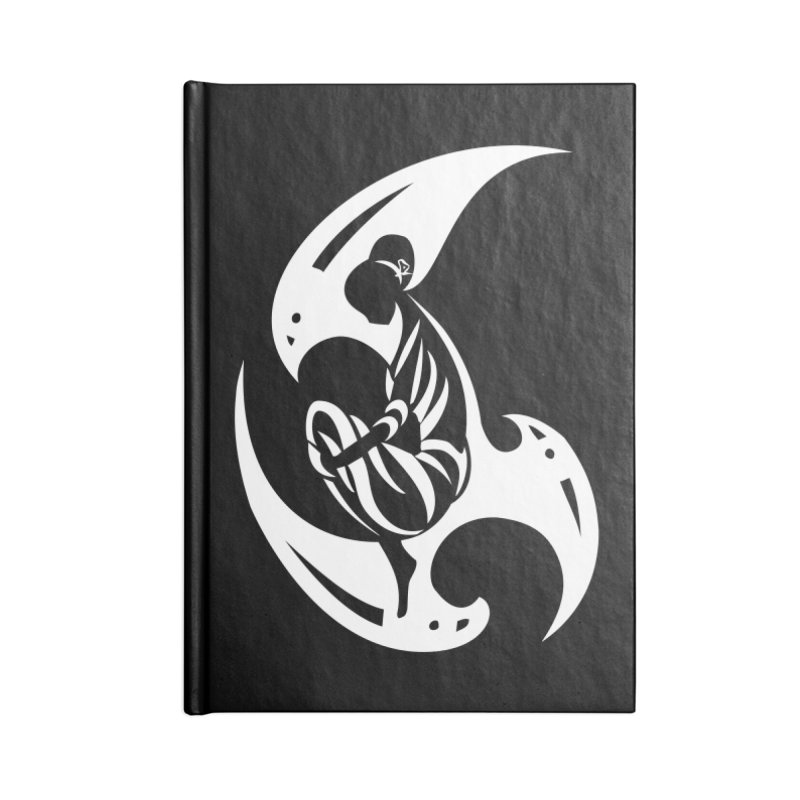 Lost In Thought White Accessories Notebook by DuMBSTRaCK CLoTH iNK PROJECT