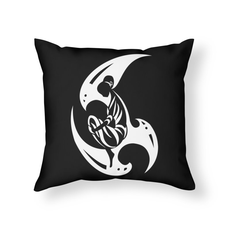 Lost In Thought White in Throw Pillow by DuMBSTRaCK CLoTH iNK PROJECT