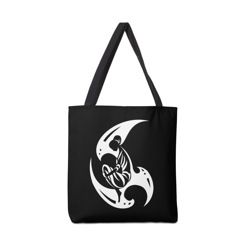 Lost In Thought White Accessories Bag by DuMBSTRaCK CLoTH iNK PROJECT