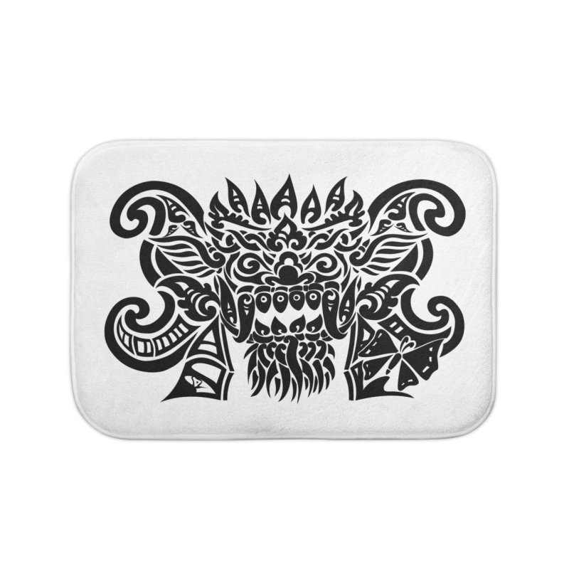 Barong One Black Home Bath Mat by DuMBSTRaCK CLoTH iNK PROJECT