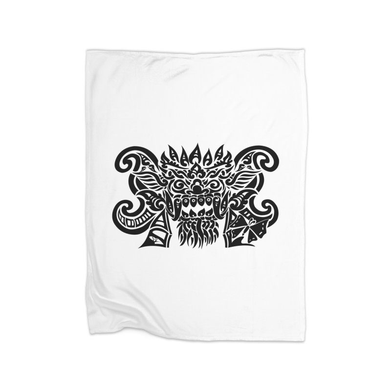 Barong One Black Home Blanket by DuMBSTRaCK CLoTH iNK PROJECT