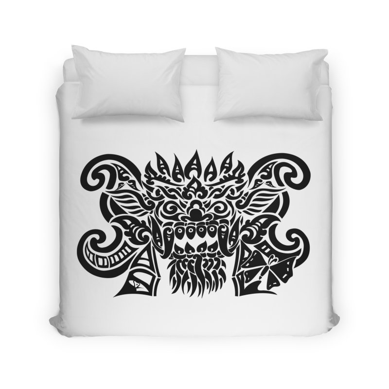 Barong One Black Home Duvet by DuMBSTRaCK CLoTH iNK PROJECT