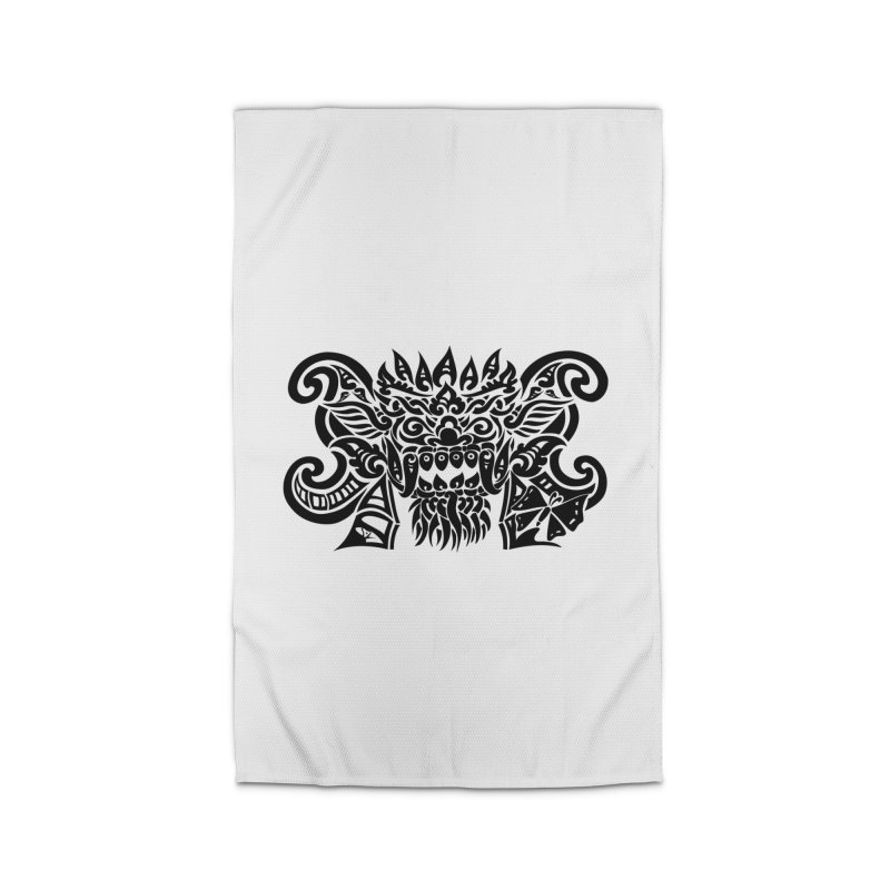 Barong One Black Home Rug by DuMBSTRaCK CLoTH iNK PROJECT