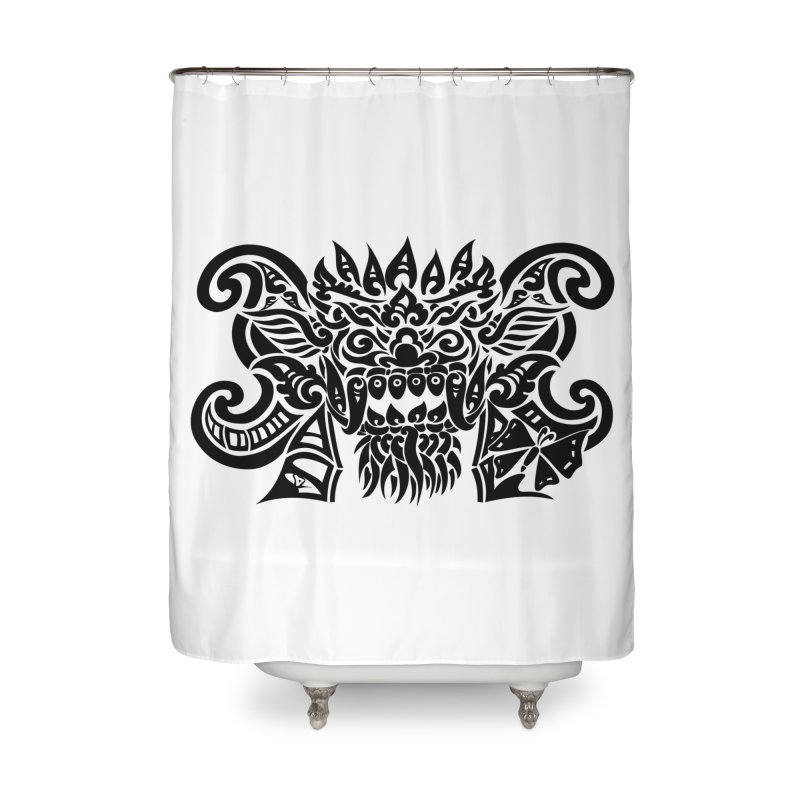 Barong One Black Home Shower Curtain by DuMBSTRaCK CLoTH iNK PROJECT
