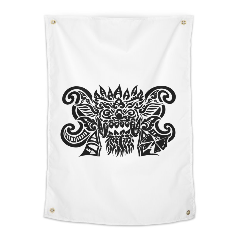 Barong One Black Home Tapestry by DuMBSTRaCK CLoTH iNK PROJECT