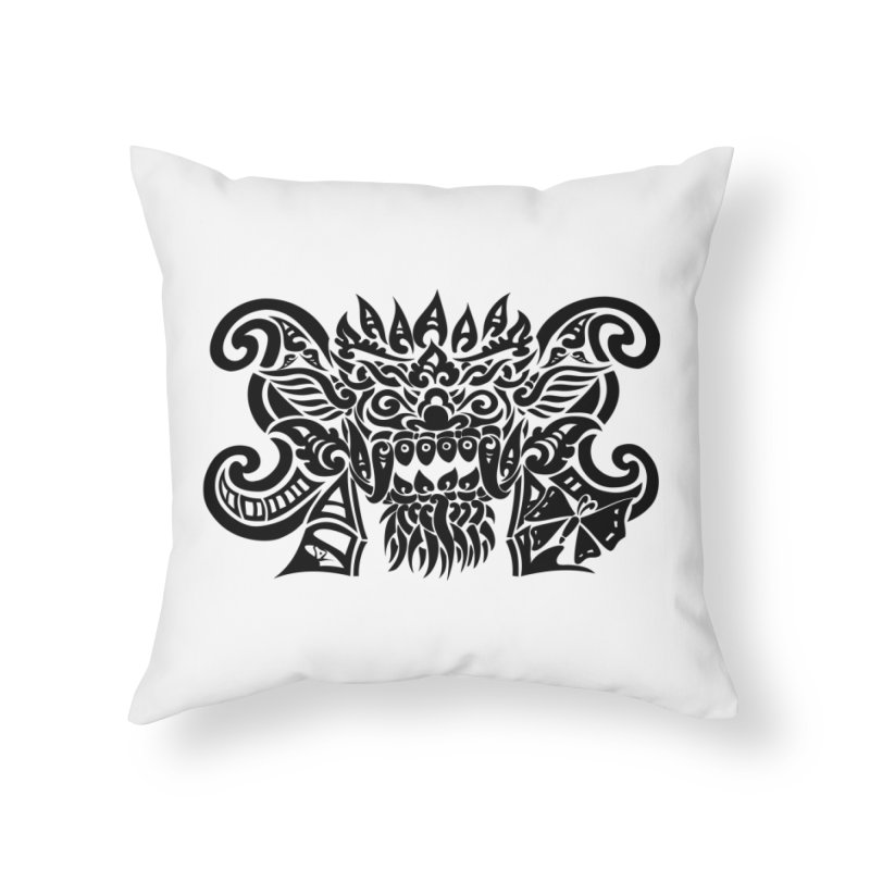 Barong One Black in Throw Pillow by DuMBSTRaCK CLoTH iNK PROJECT