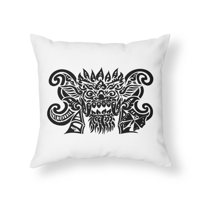 Barong One Black Home Throw Pillow by DuMBSTRaCK CLoTH iNK PROJECT
