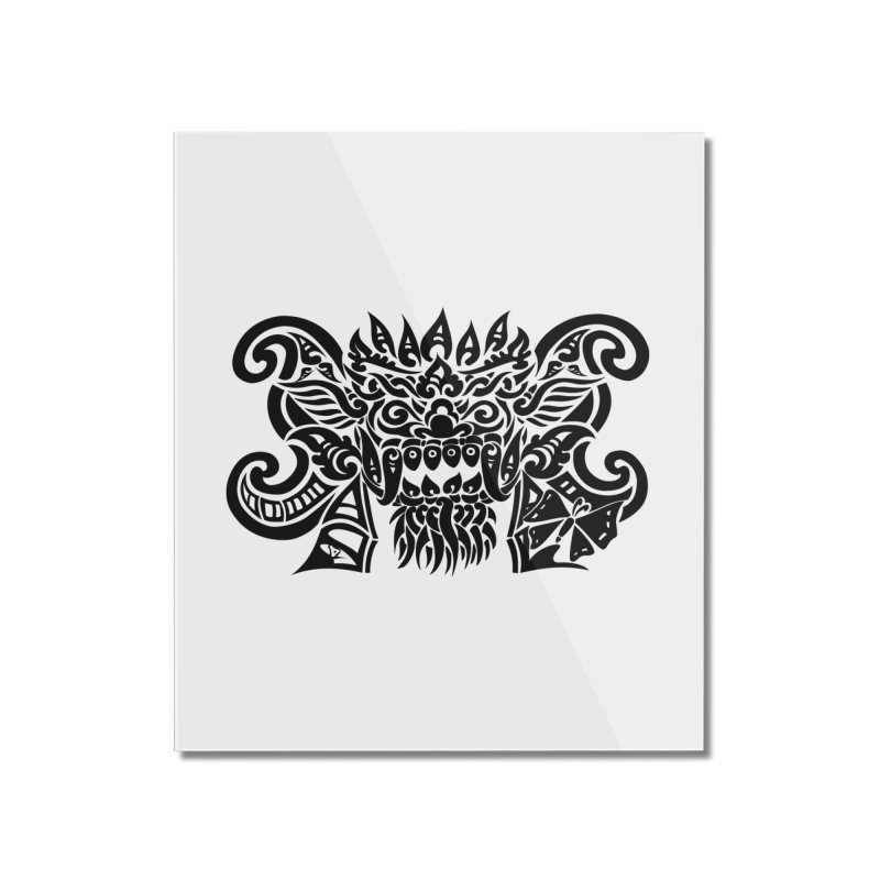 Barong One Black Home Mounted Acrylic Print by DuMBSTRaCK CLoTH iNK PROJECT