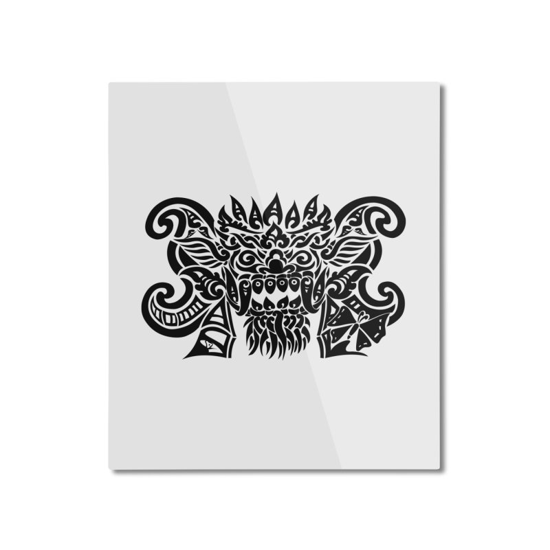 Barong One Black Home Mounted Aluminum Print by DuMBSTRaCK CLoTH iNK PROJECT