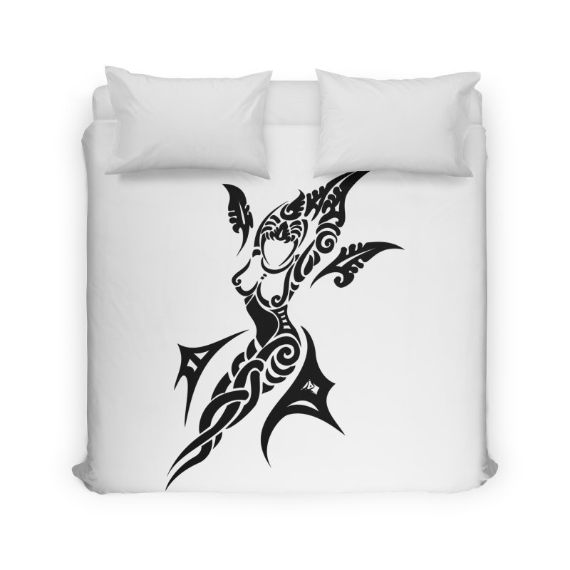 Mother One Black Home Duvet by DuMBSTRaCK CLoTH iNK PROJECT