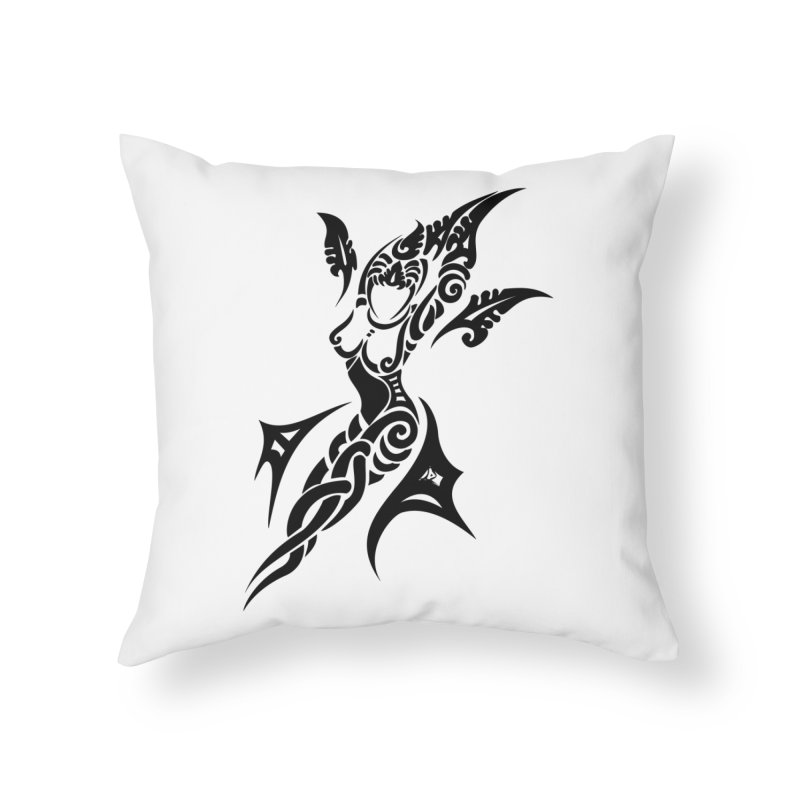 Mother One Black Home Throw Pillow by DuMBSTRaCK CLoTH iNK PROJECT