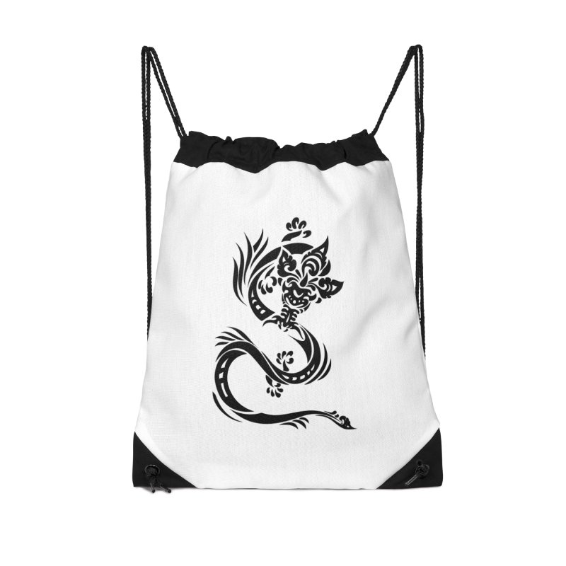 Dragon One Black Accessories Bag by DuMBSTRaCK CLoTH iNK PROJECT