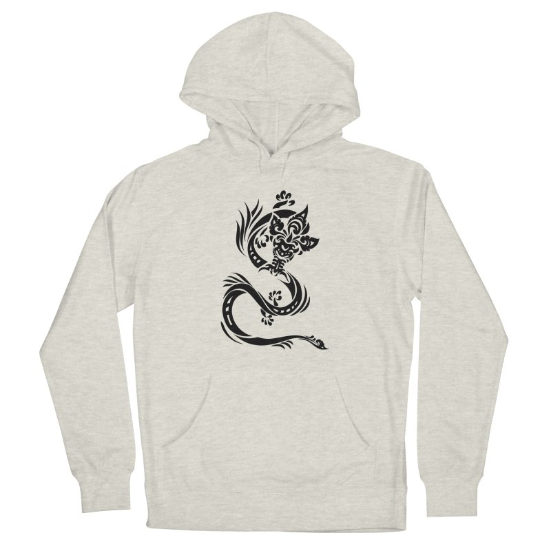 Dragon One Black Men's Pullover Hoody by DuMBSTRaCK CLoTH iNK PROJECT