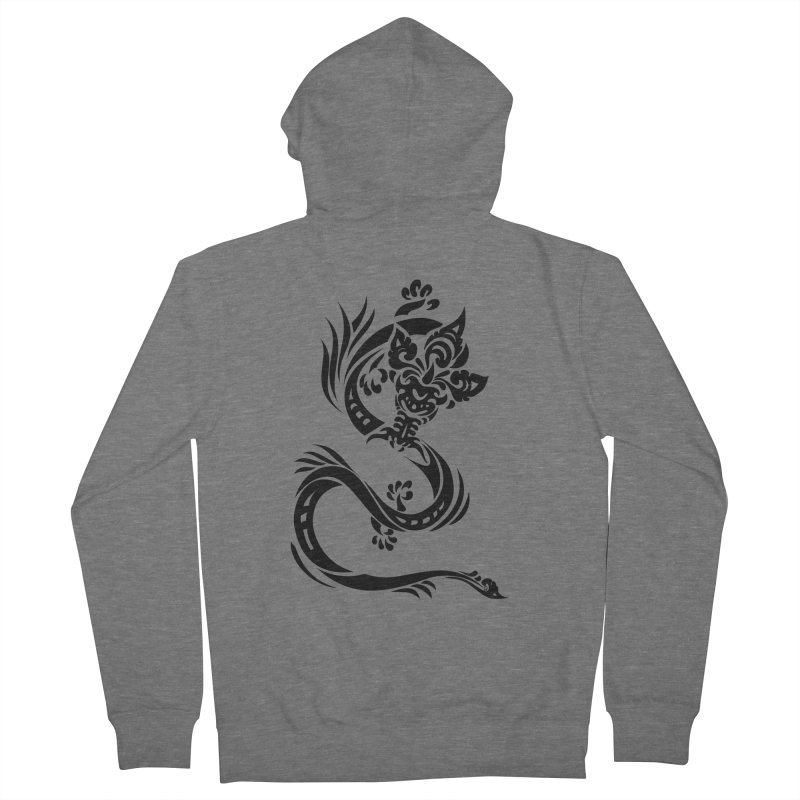 Dragon One Black Men's Zip-Up Hoody by DuMBSTRaCK CLoTH iNK PROJECT