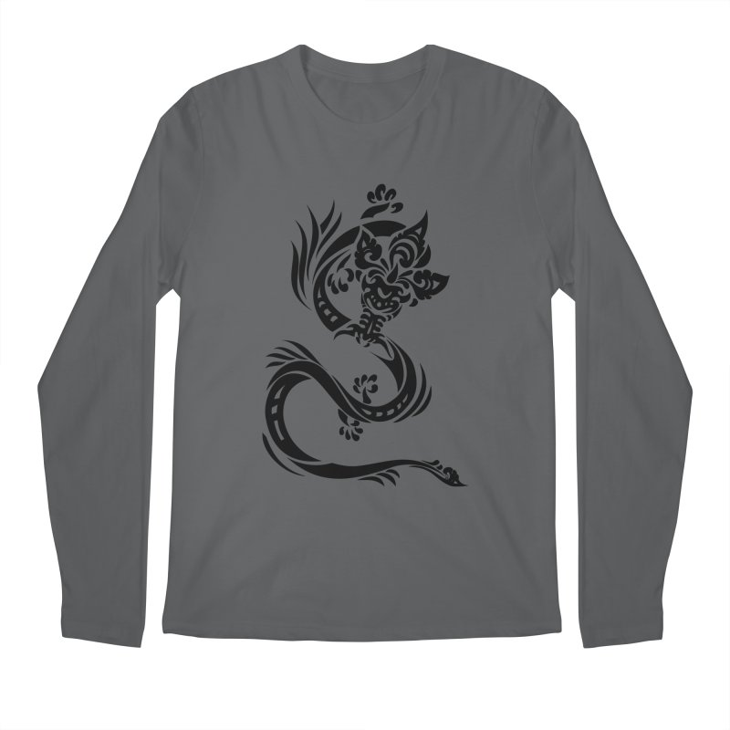 Dragon One Black Men's Longsleeve T-Shirt by DuMBSTRaCK CLoTH iNK PROJECT