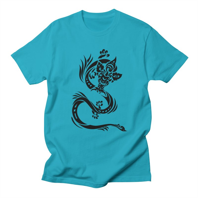 Dragon One Black Men's T-Shirt by DuMBSTRaCK CLoTH iNK PROJECT