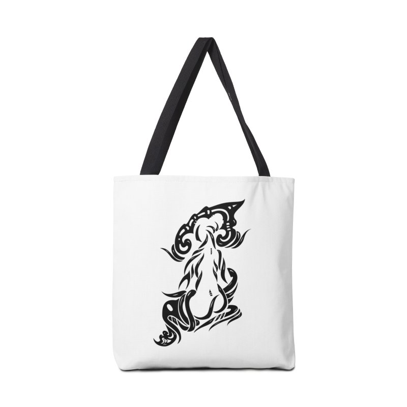 Metamorphosis Of A Girl Black Accessories Tote Bag Bag by DuMBSTRaCK CLoTH iNK PROJECT