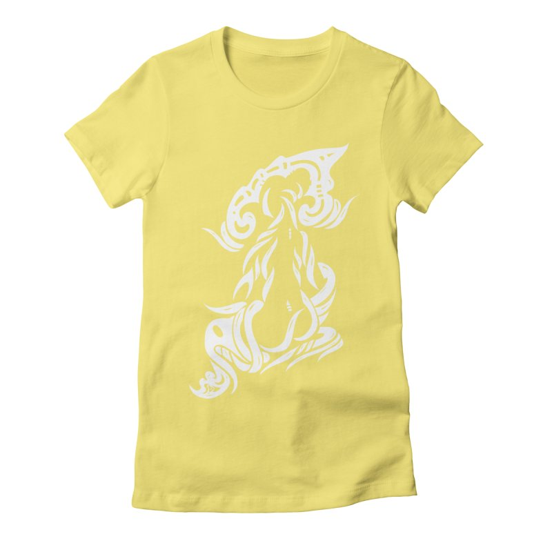 Metamorphosis Of A Girl White Women's Fitted T-Shirt by DuMBSTRaCK CLoTH iNK PROJECT