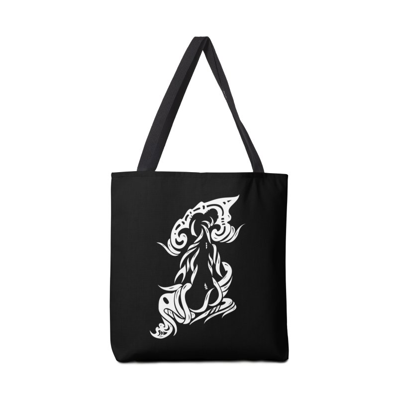 Metamorphosis Of A Girl White Accessories Bag by DuMBSTRaCK CLoTH iNK PROJECT