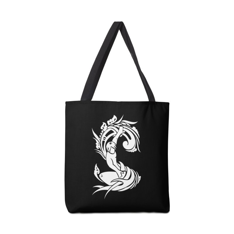 Net Surfer White Accessories Tote Bag Bag by DuMBSTRaCK CLoTH iNK PROJECT