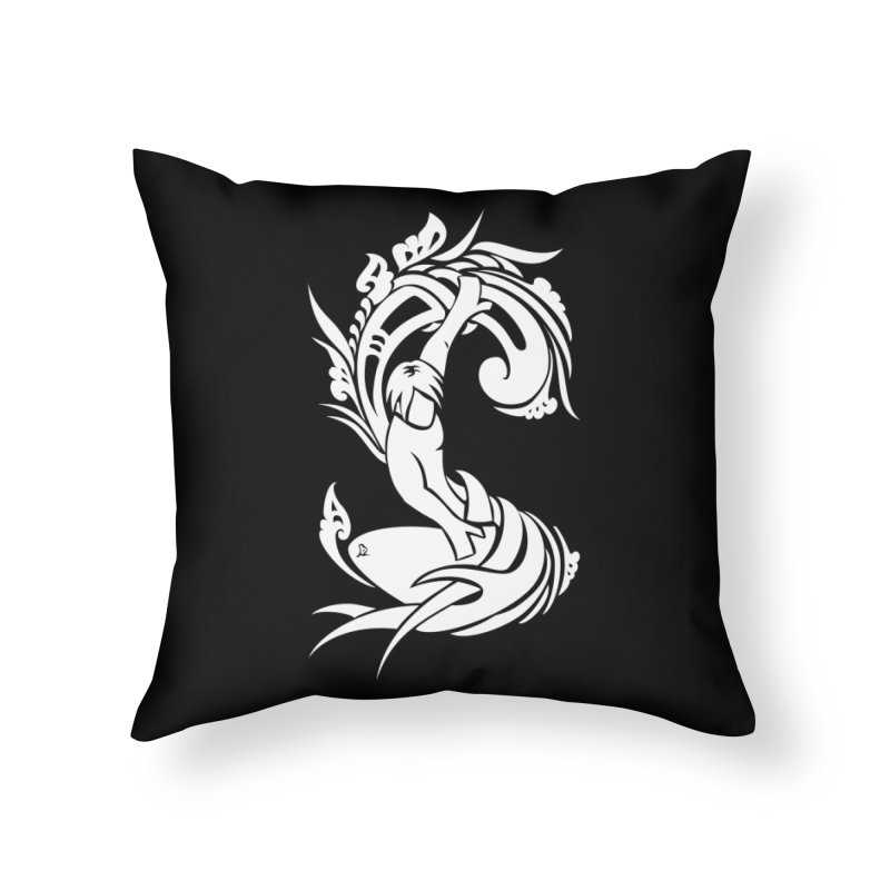 Net Surfer White Home Throw Pillow by DuMBSTRaCK CLoTH iNK PROJECT