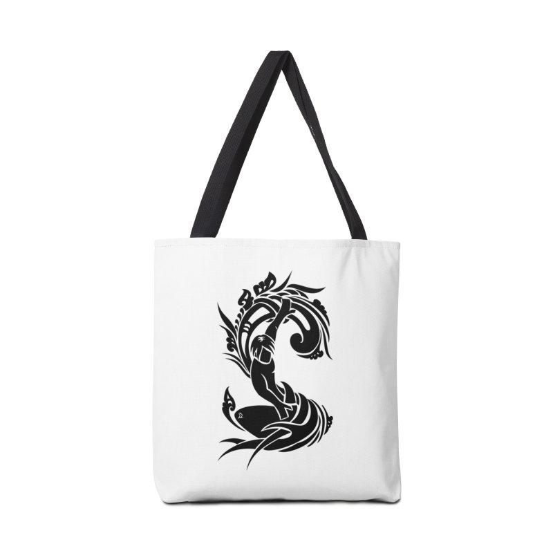 Net Surfer Black Accessories Tote Bag Bag by DuMBSTRaCK CLoTH iNK PROJECT