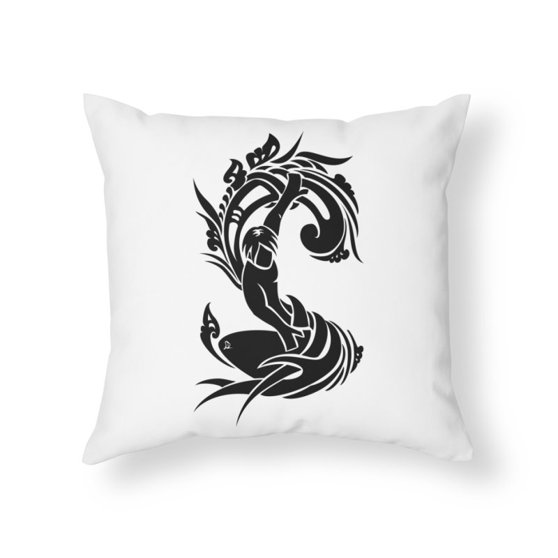 Net Surfer Black Home Throw Pillow by DuMBSTRaCK CLoTH iNK PROJECT