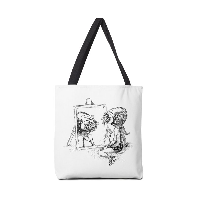 Celuluk Gemini Accessories Tote Bag Bag by DuMBSTRaCK CLoTH iNK PROJECT