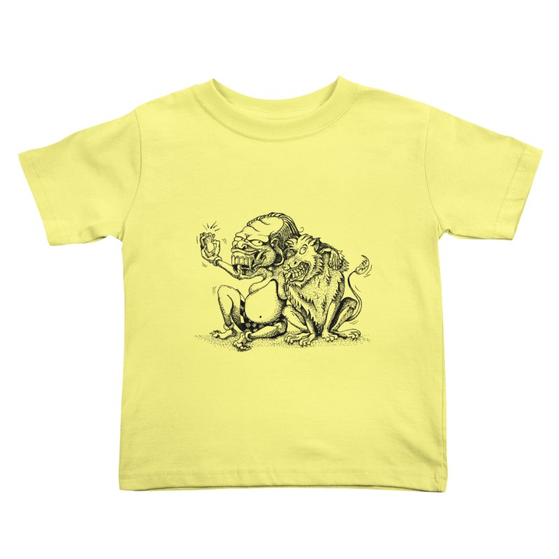 Celuluk Leo Kids Toddler T-Shirt by DuMBSTRaCK CLoTH iNK PROJECT