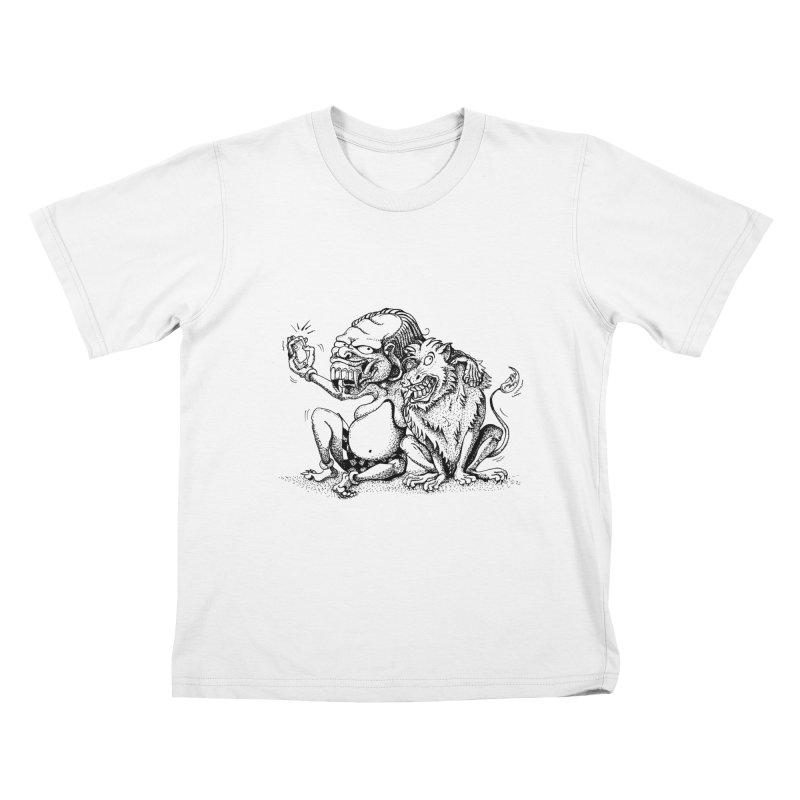 Celuluk Leo Kids T-Shirt by DuMBSTRaCK CLoTH iNK PROJECT