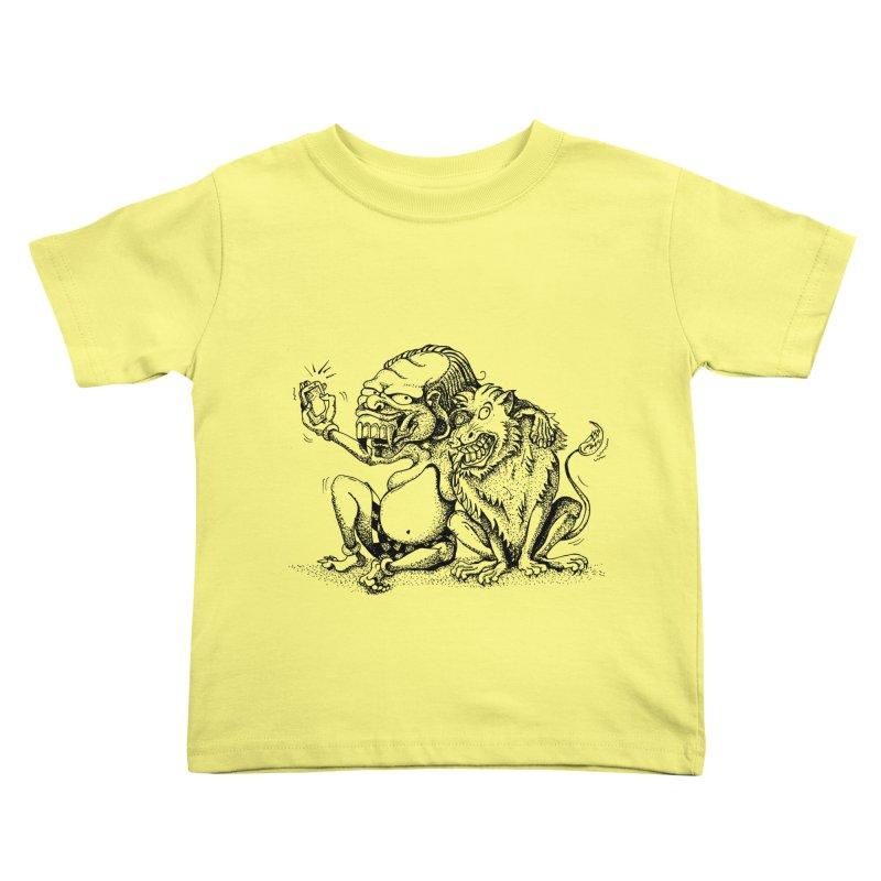 Celuluk Leo Kids Toddler T-Shirt by DuMBSTRaCK CLoTH iNK PROJECT