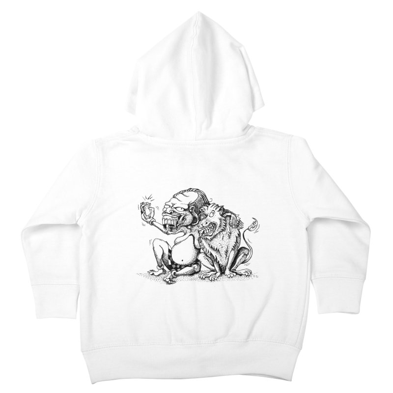 Celuluk Leo Kids Toddler Zip-Up Hoody by DuMBSTRaCK CLoTH iNK PROJECT