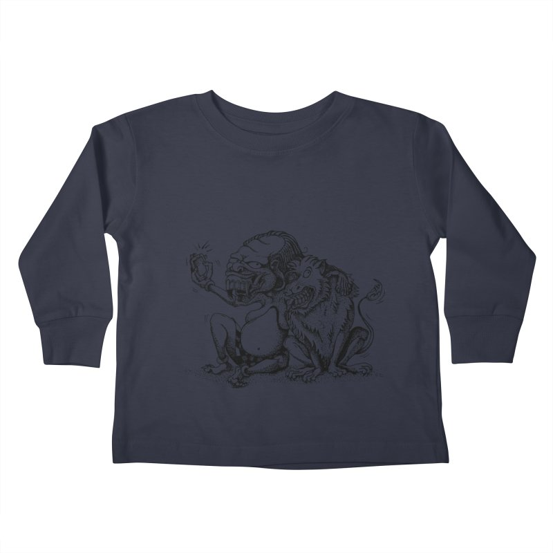 Celuluk Leo Kids Toddler Longsleeve T-Shirt by DuMBSTRaCK CLoTH iNK PROJECT