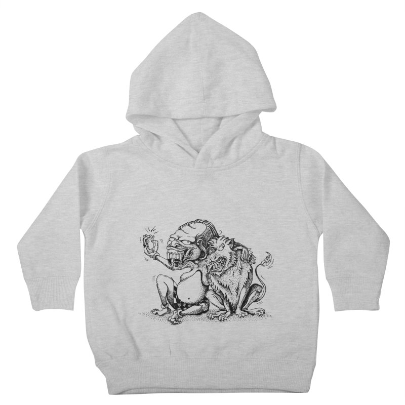 Celuluk Leo Kids Toddler Pullover Hoody by DuMBSTRaCK CLoTH iNK PROJECT